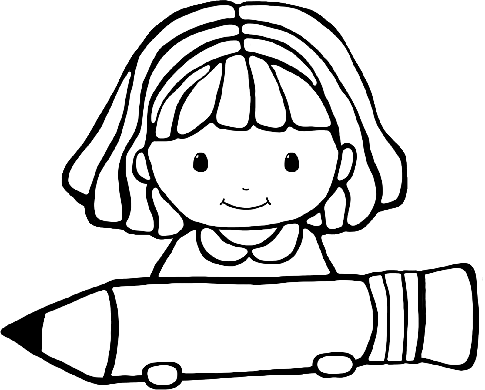 Cute Girl Clipart Black And Whitw 20 Free Cliparts