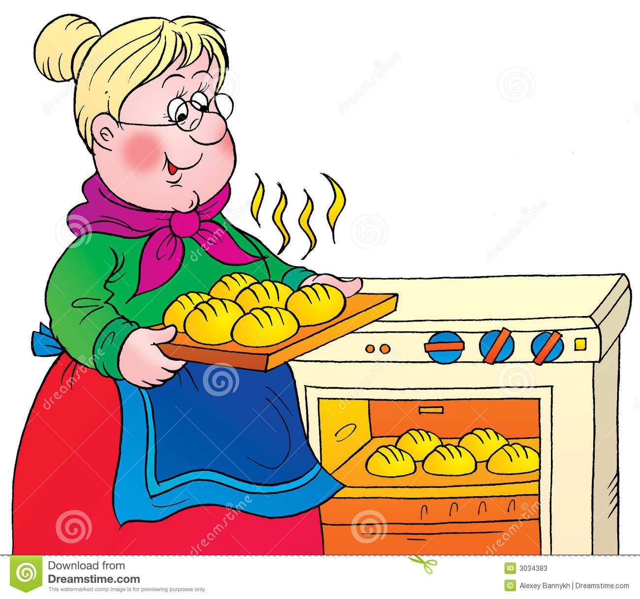 hight resolution of grandma cooking clipart