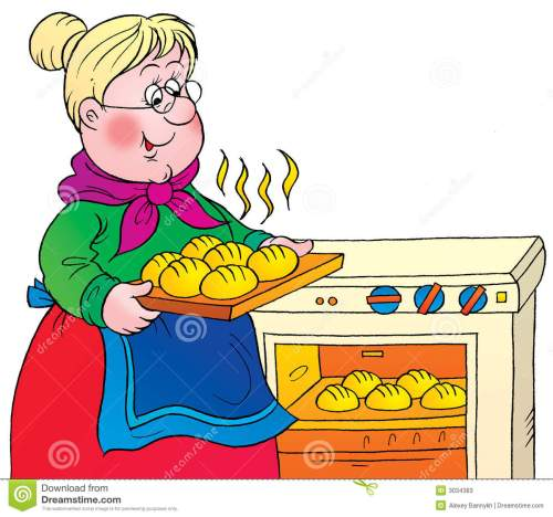 small resolution of grandma cooking clipart