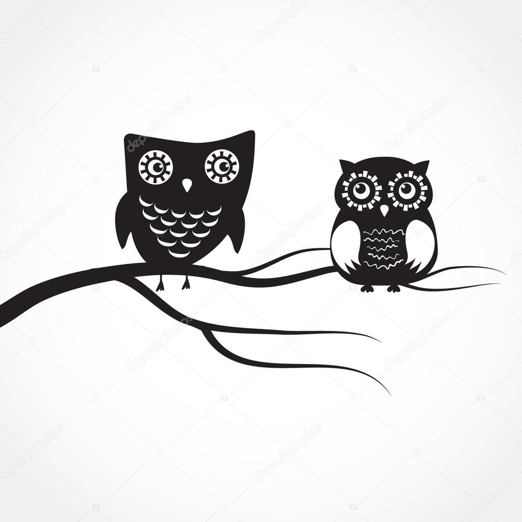 cute owl on tree clipart black and white 20 free Cliparts