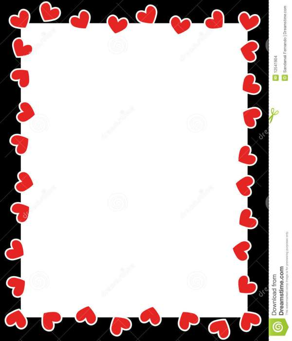 Cute Red Clipart Border - Clipground