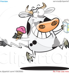 clipart dairy cow with ice cream and milk  [ 1080 x 1024 Pixel ]