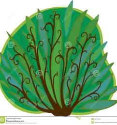 cartoon bush isolated stock illustration  [ 1300 x 1314 Pixel ]