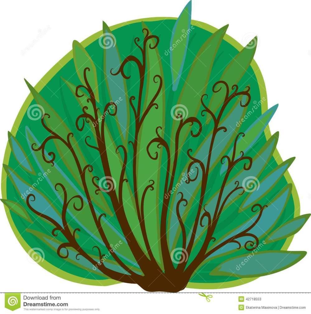 medium resolution of cartoon bush isolated stock illustration