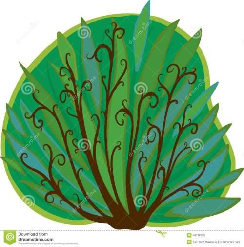 small resolution of cartoon bush isolated stock illustration