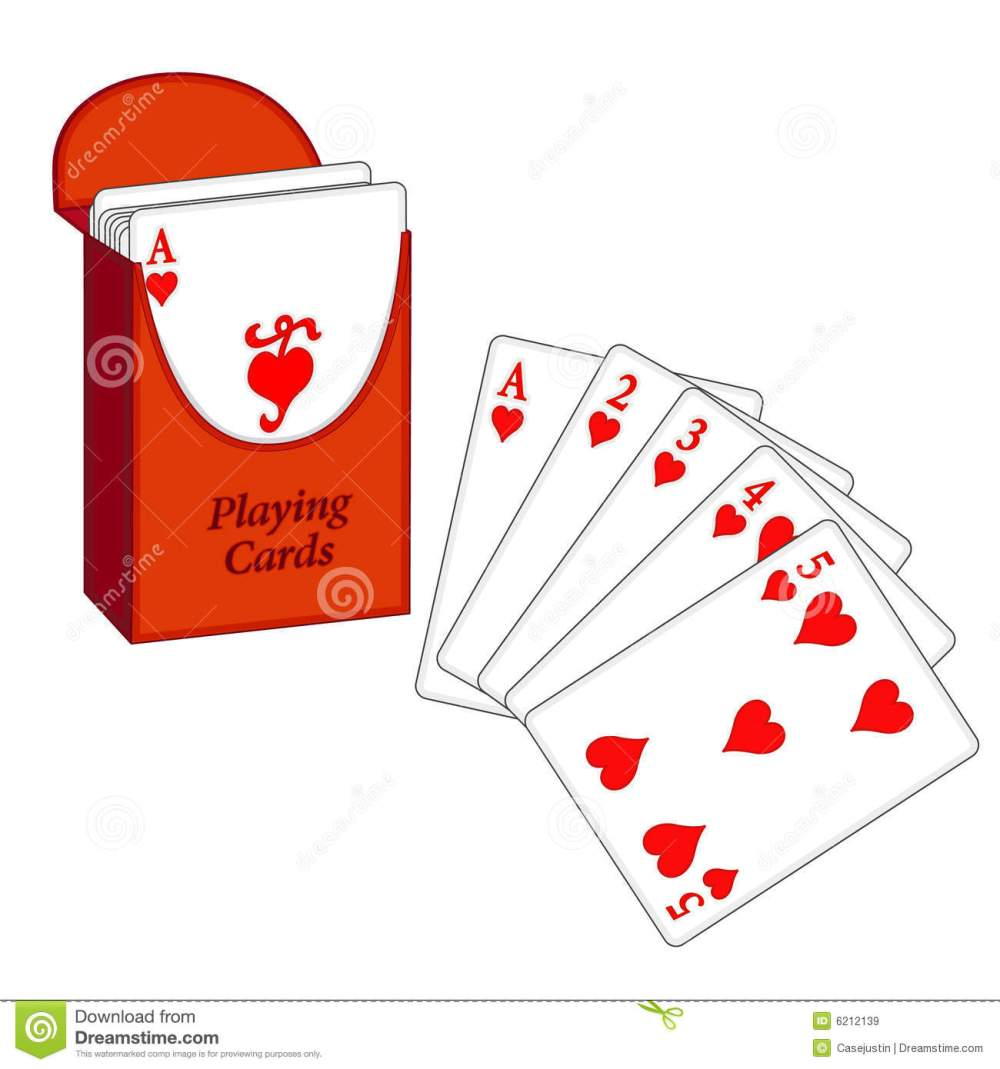 medium resolution of deck of playing cards with my winning lucky poker hand eps8 organized