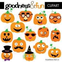 Decorative pumpkins clipart - Clipground