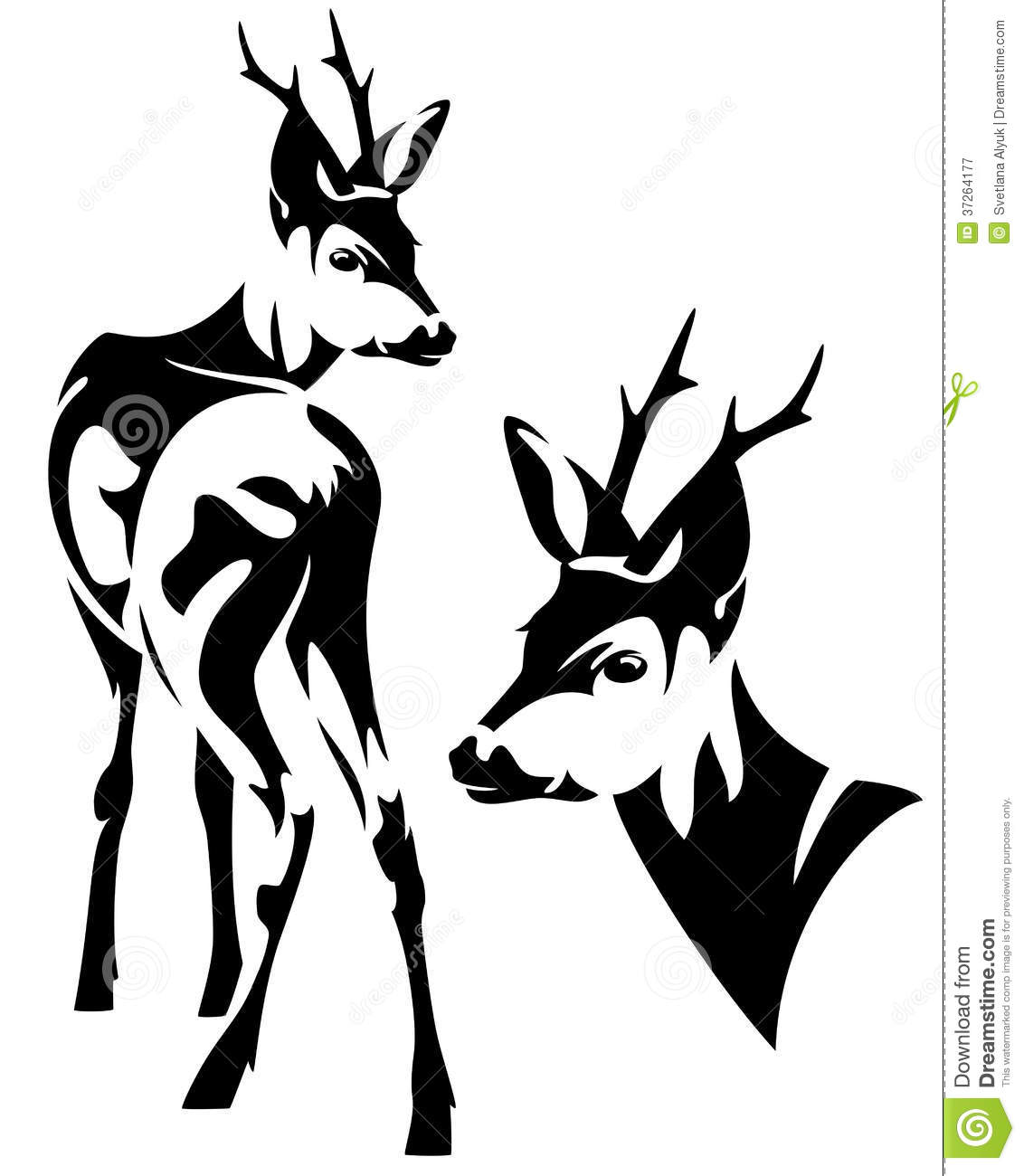 Deer Outline Clipart Black And White Clipground
