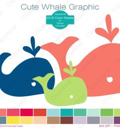 whale clipart commercial use clipart cute whale graphic 2016 color palette 24 colors whale images digital sticker vector whale png eps svg [ 1500 x 1201 Pixel ]