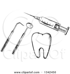 clipart dentist dental tools syringe tooth vaccine vector royalty clipground sketched vaccination tradition sm