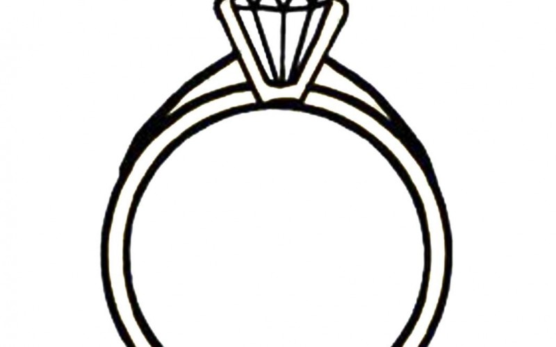 diamond ring template clipart