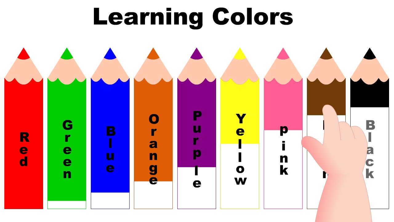 hight resolution of learning colors with color pencils