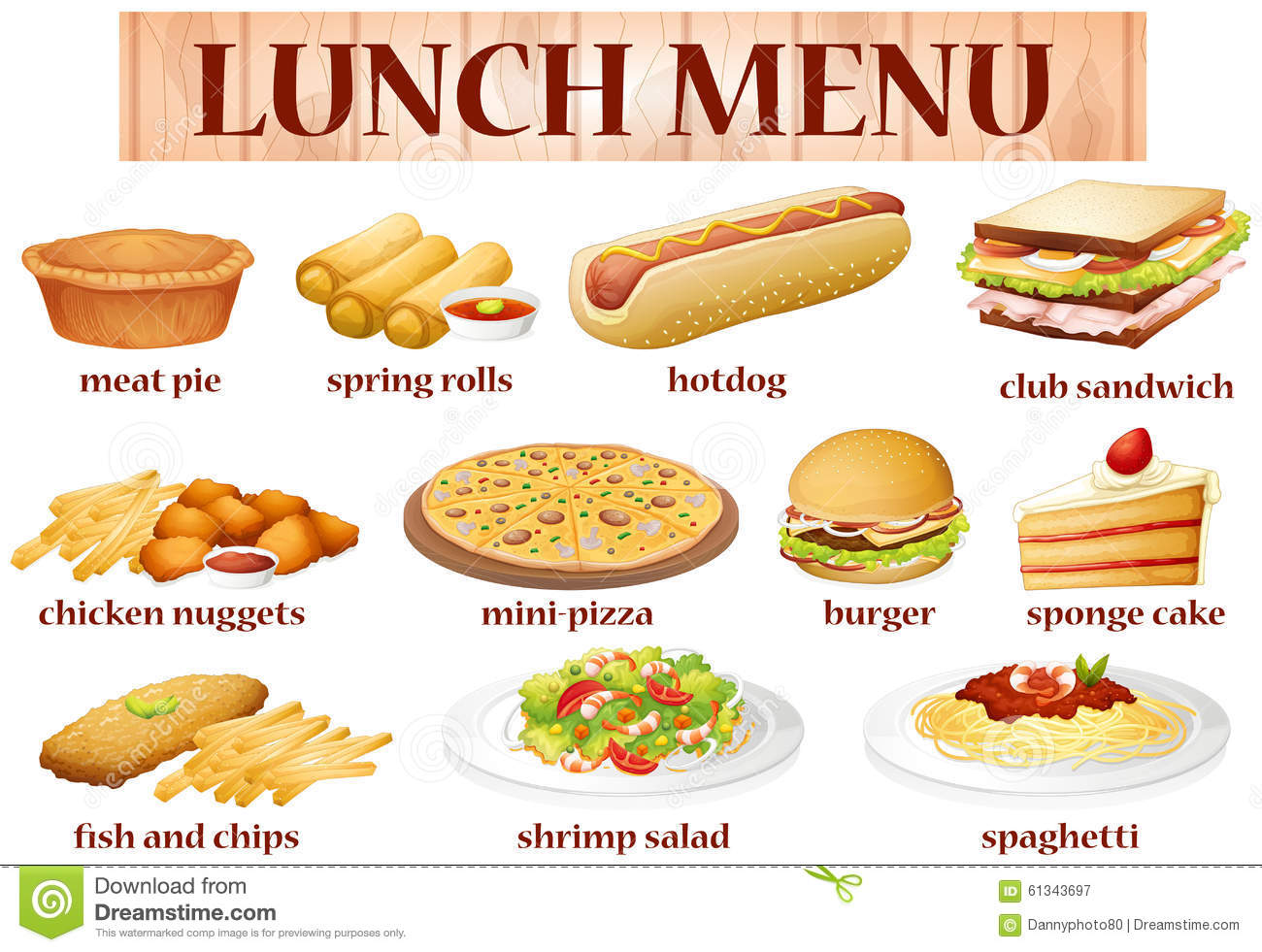 Different Kinds Of Food Clipart