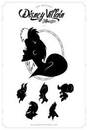 disney villans clipart black