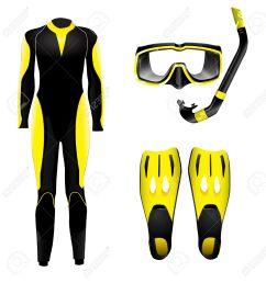 scuba diving gear clipart  [ 1267 x 1300 Pixel ]