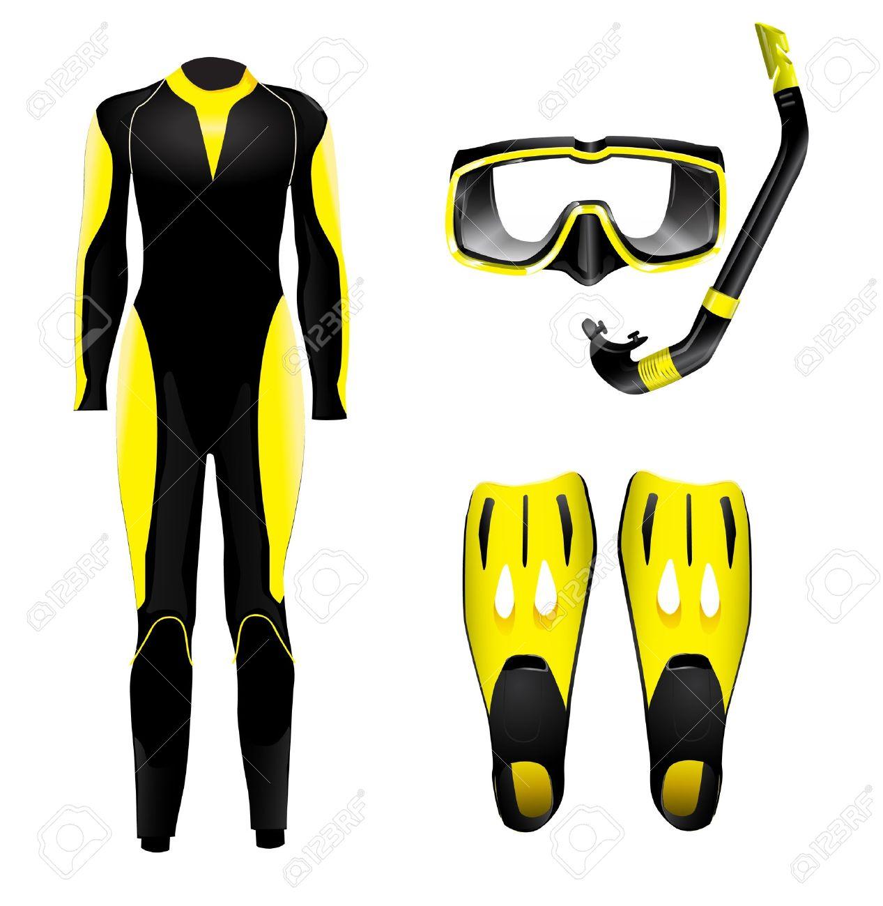 hight resolution of scuba diving gear clipart
