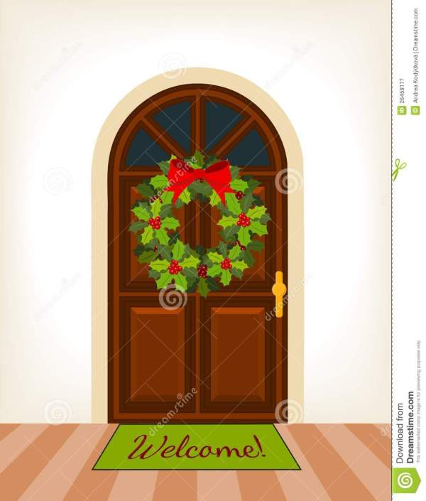 Door Wreath Clipart - Clipground
