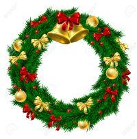Door wreath clipart - Clipground