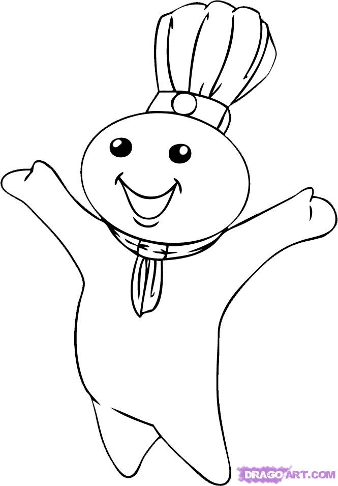 dough boy clipart black and white 20 free Cliparts