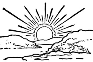 easter sunrise clipart black and white 20 free Cliparts
