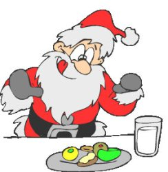 clipart eat drink cookies santa eating christmas milk breakfast clipground games cliparts type
