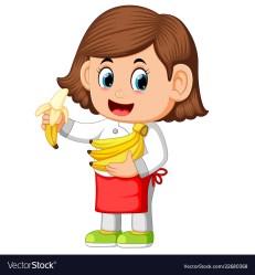 banana eating clipart bananas holding clipground cliparts chef