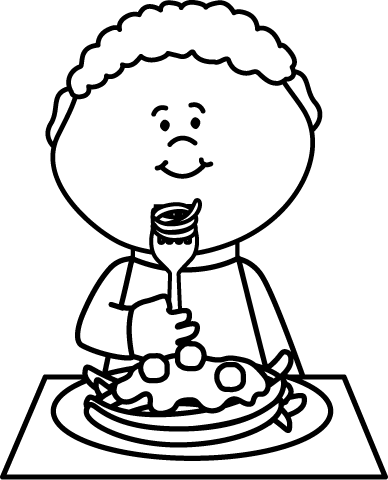 Pancake Breakfast Clipart Black And White
