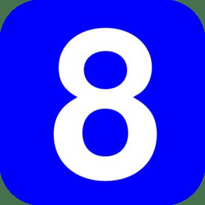 Eight clipart #4