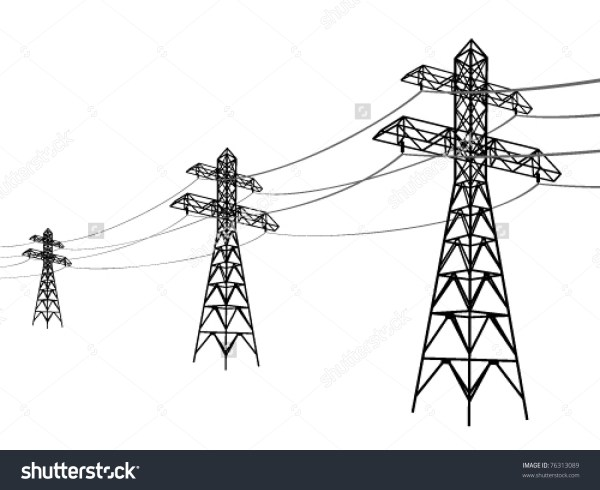 Electric Power Transmission Lines Clip Art