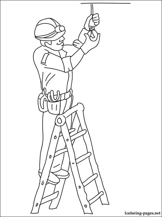 electrician color pages clipart 20 free Cliparts