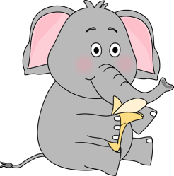 elephant clipart eating clip clipground cute