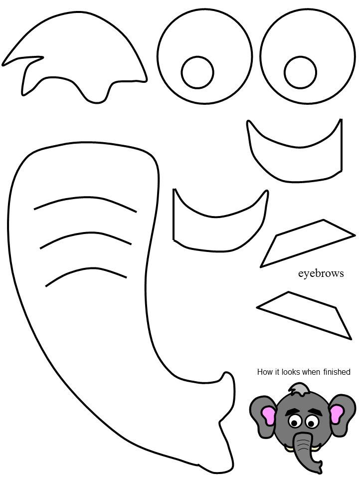 Pattern Dumbo Ears Cut Out