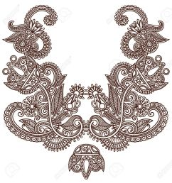 neckline embroidery fashion royalty free cliparts vectors and  [ 1255 x 1300 Pixel ]