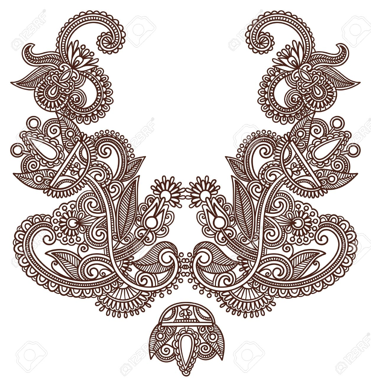 hight resolution of neckline embroidery fashion royalty free cliparts vectors and