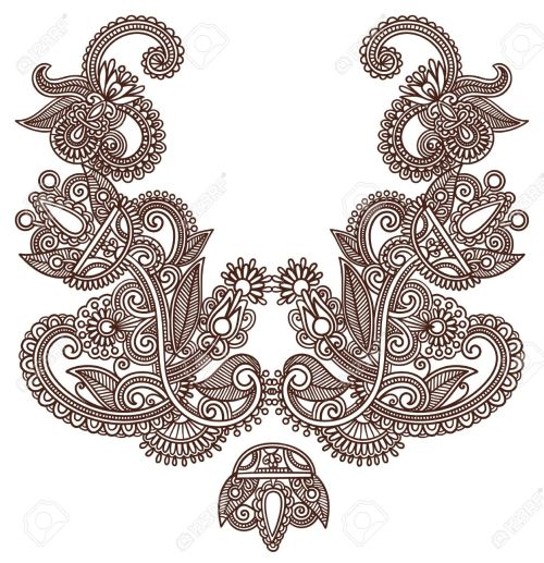 small resolution of neckline embroidery fashion royalty free cliparts vectors and