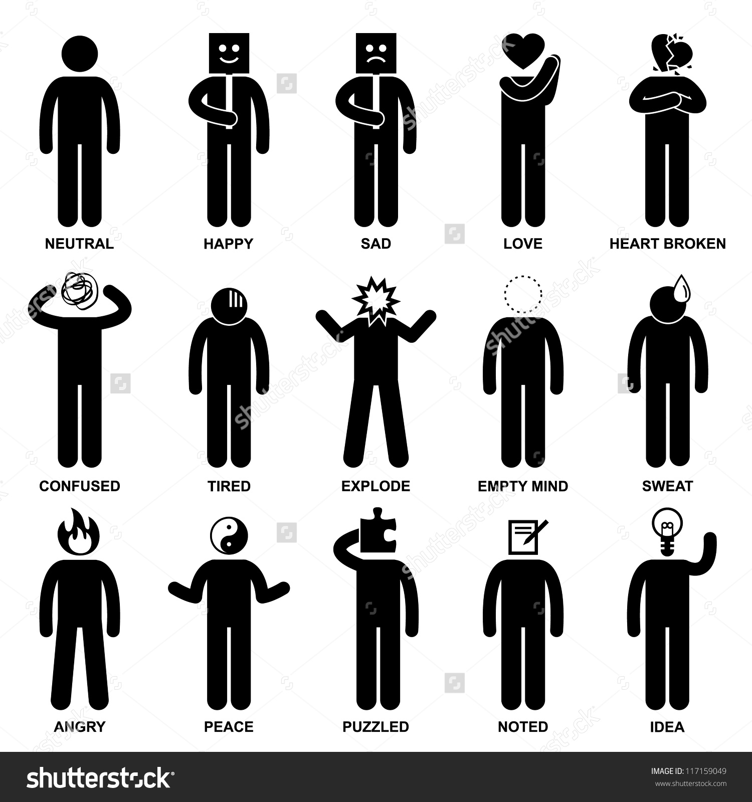 Emotions People Serious Clipart Black And White 20 Free