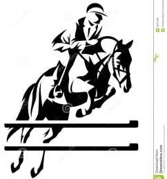 show jumping horseman design black and white equestrian sport emblem [ 1110 x 1300 Pixel ]