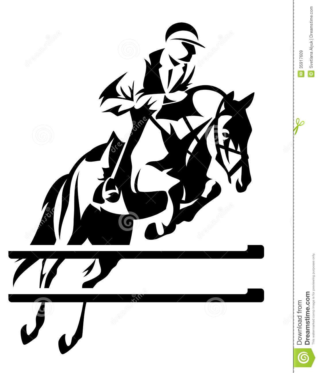 hight resolution of show jumping horseman design black and white equestrian sport emblem
