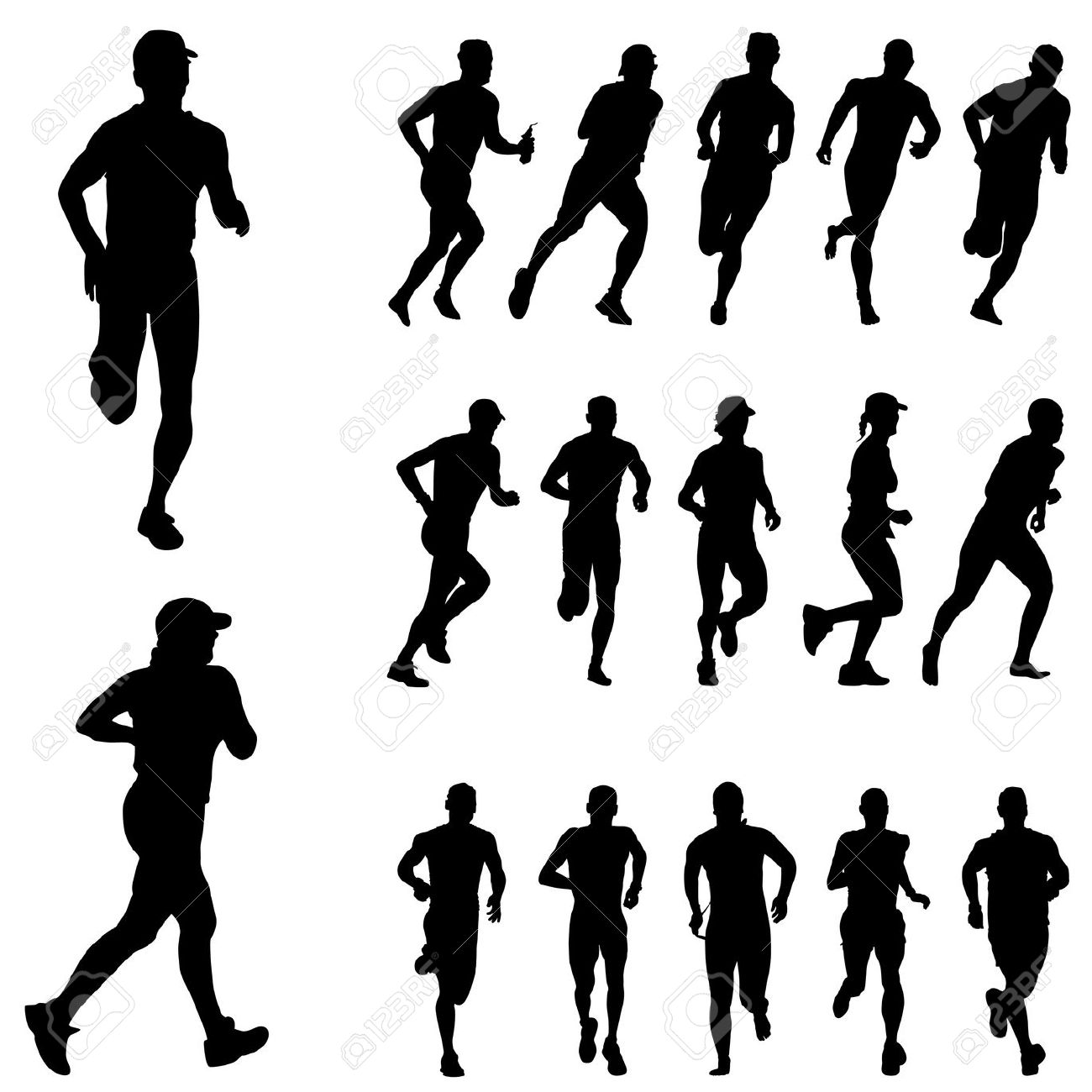 Exercising Clipart Running