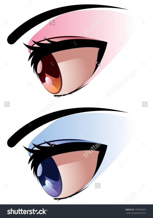 small resolution of brown blue eye make viewed side stock vector 187859603