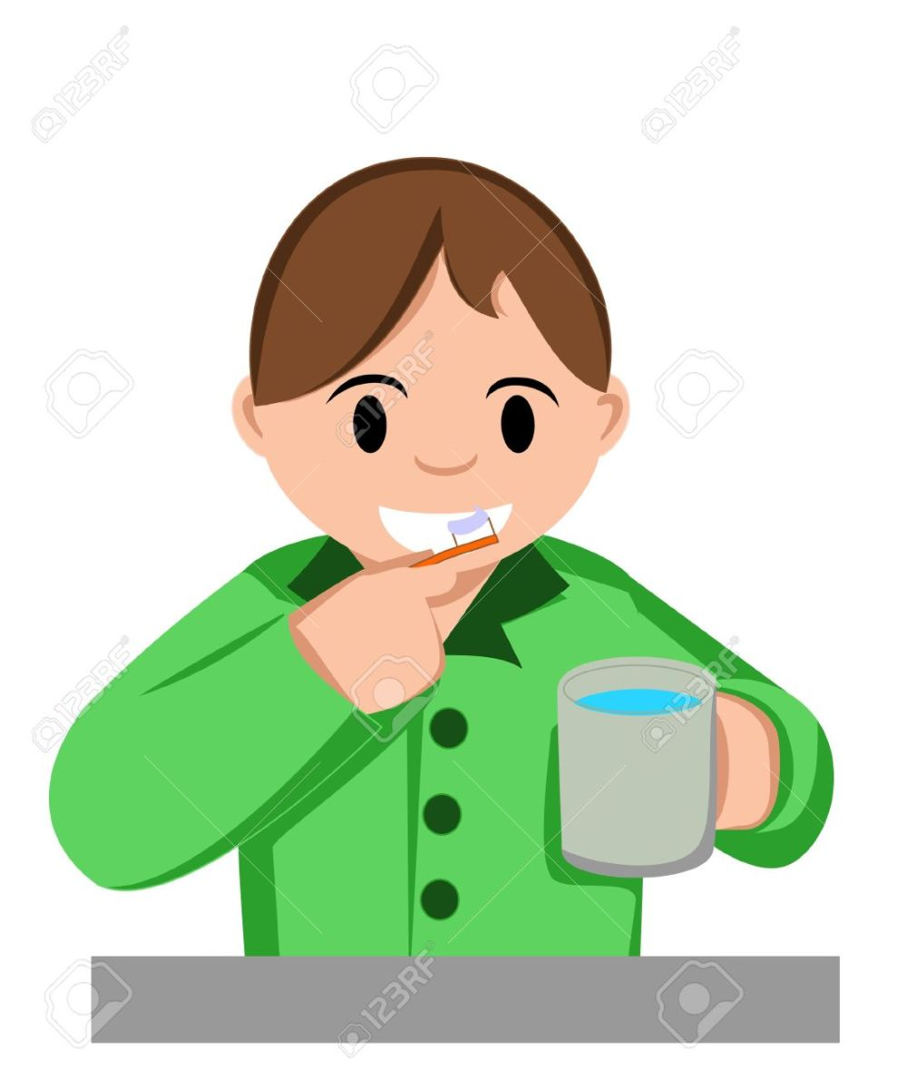 medium resolution of boy brush teeth royalty free cliparts vectors and stock