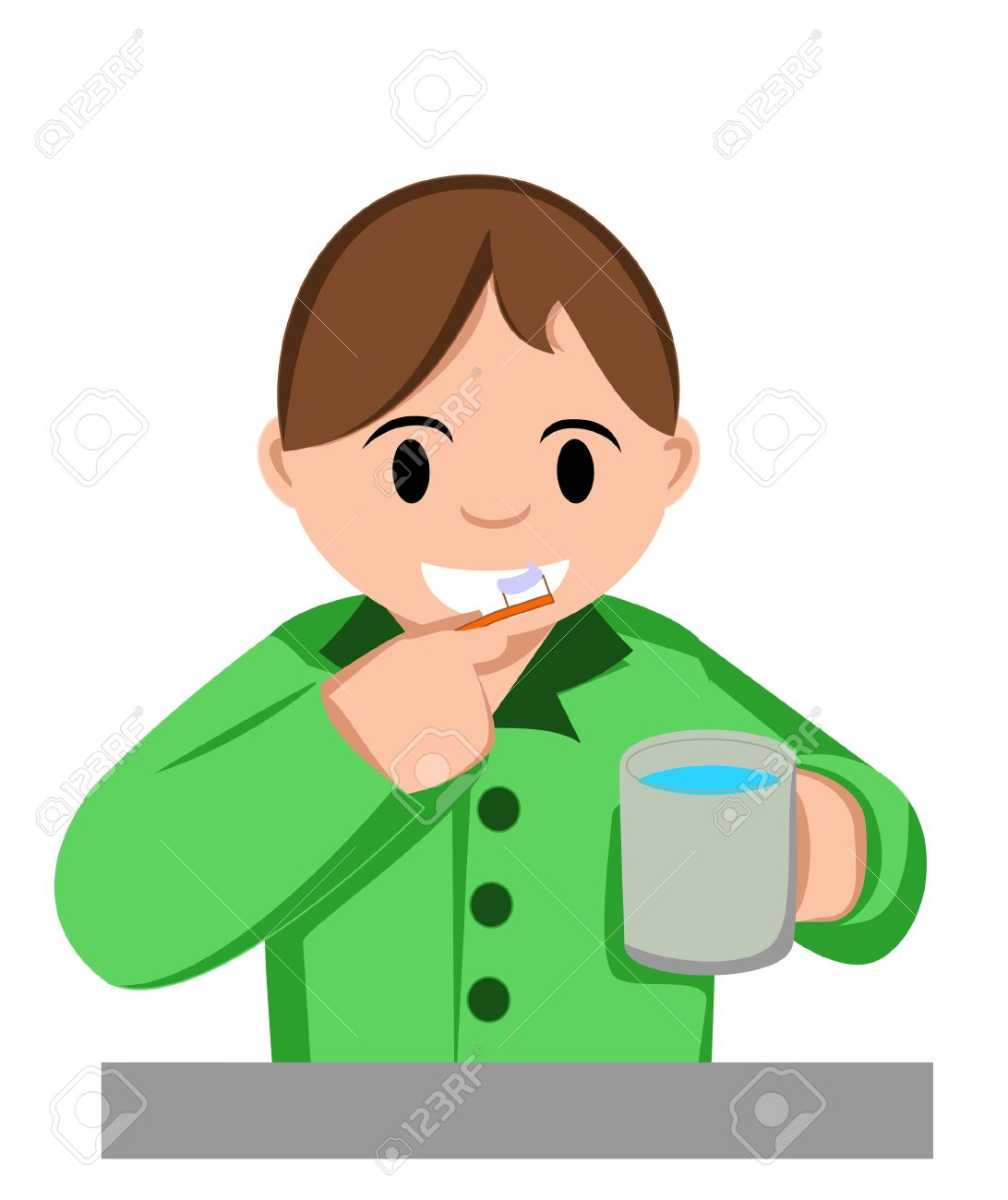 hight resolution of boy brush teeth royalty free cliparts vectors and stock