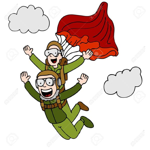 tandem skydiving clipart - clipground