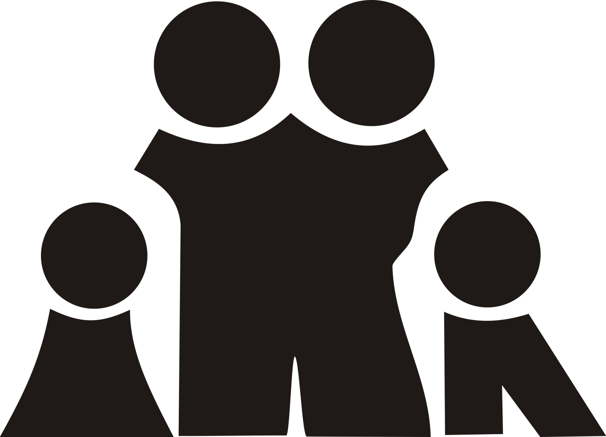 hight resolution of family black and white family clipart clipart club
