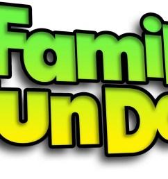 family fun day border clipart  [ 1600 x 948 Pixel ]