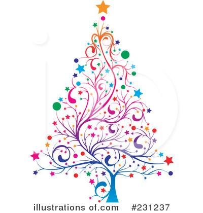 fancy christmas tree clipart