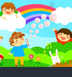 wide horizontal strip with happy kids playing in a fantasy world fantasy world clipart  [ 1500 x 760 Pixel ]