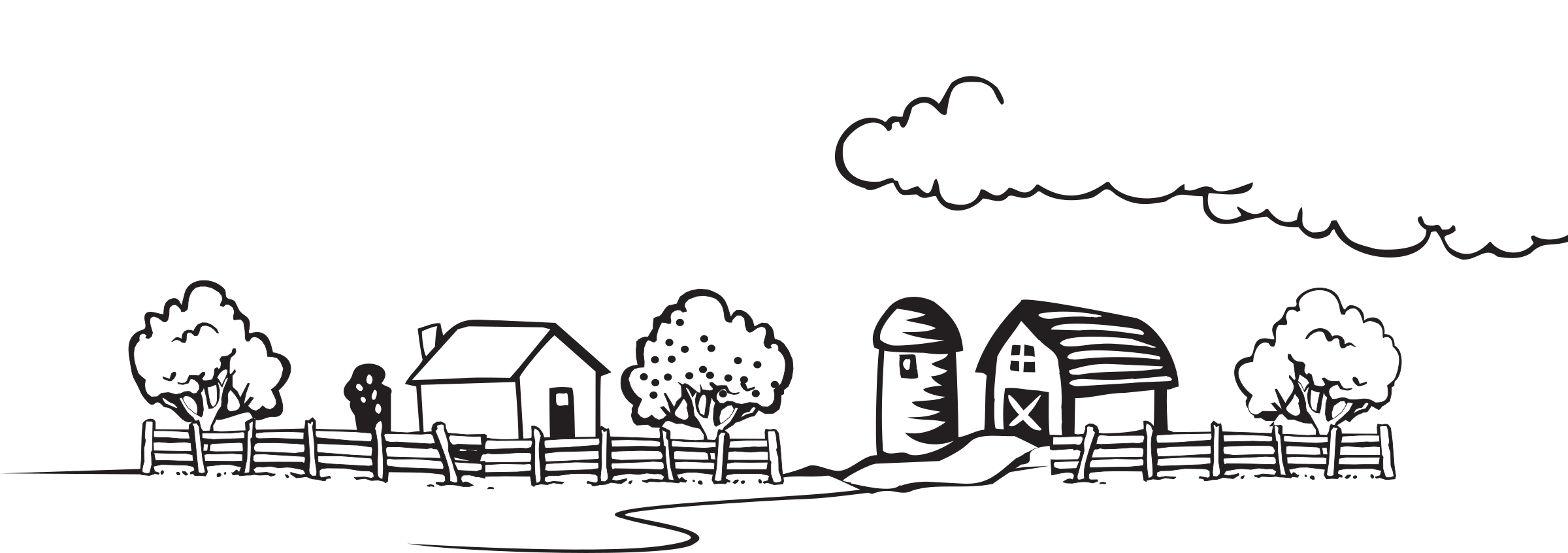 Farm House Cblack And White Clipart 20 Free Cliparts