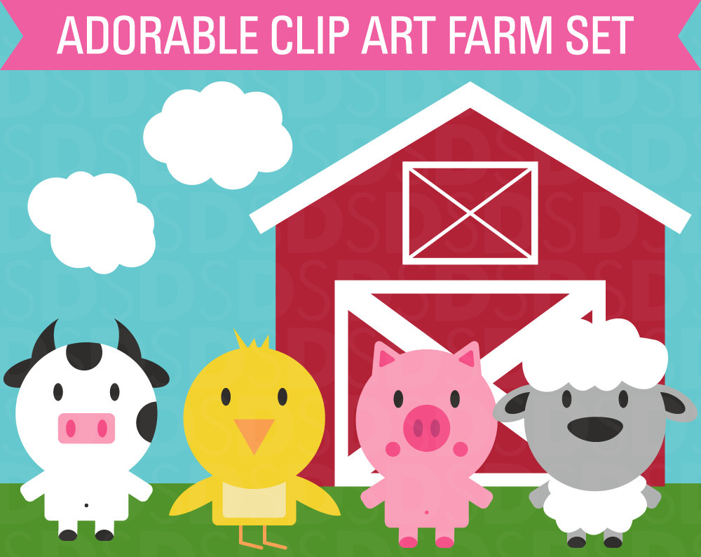 hight resolution of barn farm cow clipart