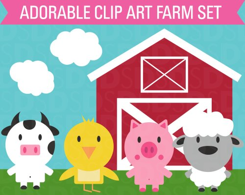 small resolution of barn farm cow clipart